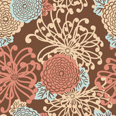 Art Deco Flower seamless pattern — Stock Photo