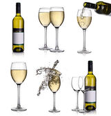 White wine collage — Stock Photo