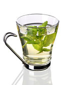 Cup of tea with fresh mint (clipping path included) — Foto Stock