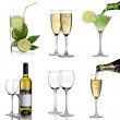 Alcohol collage — Stock Photo