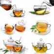 Tea collage - Foto Stock
