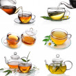Tea collage - Stock Photo