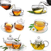 Tea collage — Foto Stock