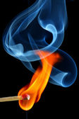 Burning matchstick — Stock Photo