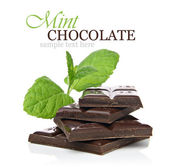 Mint chocolate concept — Stock Photo