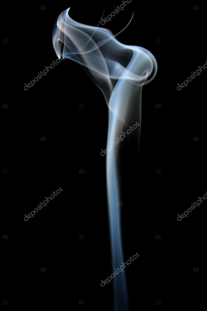 Abstract science fiction type figure out of smoke, isolated on a black background — Stock Photo #9012285