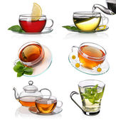 Tea collage — Stock Photo