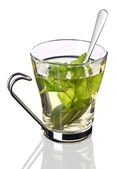 Cup of tea with mint (clipping path) — Stock Photo