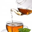 Tea poured into cup — Stock Photo #9345187