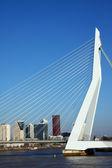 Most erazma, holandia — Zdjęcie stockowe