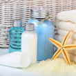 Skin care cosmetics or toiletries - Stock Photo