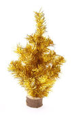 Christmas gold tree — Stock Photo