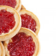 Some cookies with jam — Stock Photo #9260380