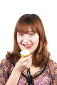 Do you wanna piece of ice-cream? — Stock Photo