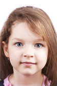 Close up little pretty child isolated — Stock Photo