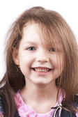 Little smiling pretty girl close up — Stock Photo