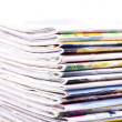 Stack of magazines isolated — Stock Photo #9757041