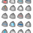Social Media Buttons, icons set — Stock Photo