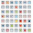 Stock Photo: Social MediButtons, 49 icons set