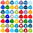 Social Media Buttons, 49 icons set — Stock Photo