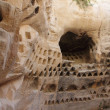 Columbarium Cave at Horbat Midras in Israel — Foto Stock