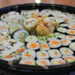 Plate with sushi - Stock Photo