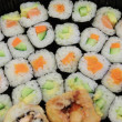 Plate with sushi — Stock Photo