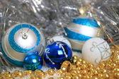New Year decoration glass balls — Stock Photo