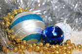 New-year tree blue decoration — Stock Photo