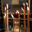 Candles in the church - Stock Photo