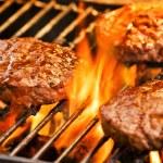 Barbecue Burgers — Stock Photo