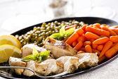 Poulet et légumes — Photo