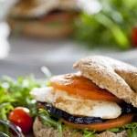 Fresh Vegetables Sandwich — Stock Photo