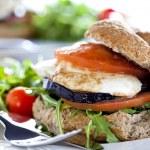 Vegetarian Sandwich Close Up — Stock Photo