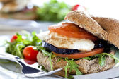 Vegetarian Sandwich Close Up — Stock Photo