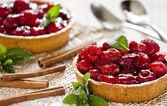 Fresh Raspberry Pies — Stock Photo