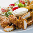 Chicken Strips With Country Potatoes — Stock Photo #8878667