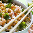 Shrimp and Noodles — Stock Photo