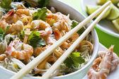 Shrimp and Noodles — Stock Photo