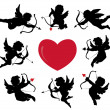Vector de stock : Cupids