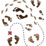 Footprints — Stock Vector #7970743