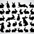 Rabbit silhouettes — Stock Vector #7970957