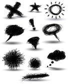 Symboles dessinée à la main — Vecteur