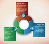 Presentation diagram — Stock Vector