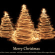 Three christmas tree — Stock Photo