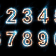 Stock Photo: Electric numbers