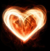 Flaming heart — Stock Photo