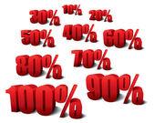 Förderung-markierungen — Stockvektor
