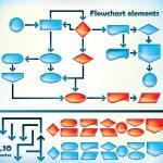 Flowchart elements — Stock Vector #8348528