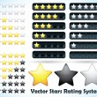 Stock Vector: Star Rating System